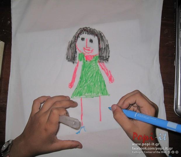 Δώρα για το τέλος της σχολικής χρονιάς - Ζωγραφική σε μπλούζα