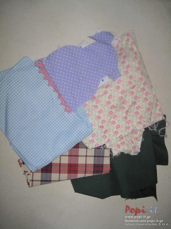 Πάτσγουορκ (patchwork)  σε μπλουζάκια - Υφάσματα