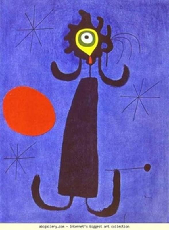 Το σώμα μου και ο Joan Miro-woman in front of the sun
