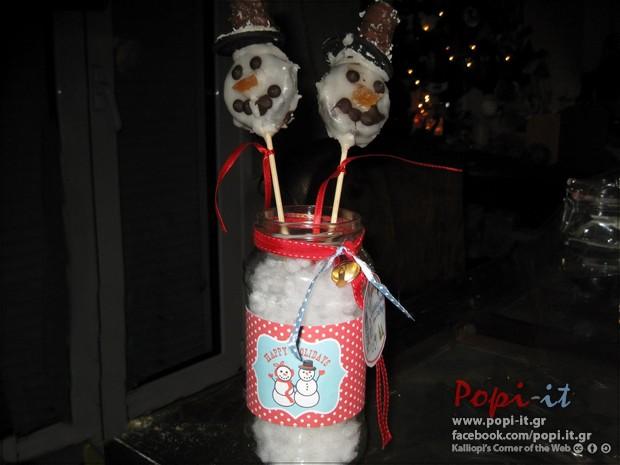 Χιονάνθρωπος από μπισκότα Oreo.