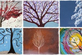 winter-trees-paintings