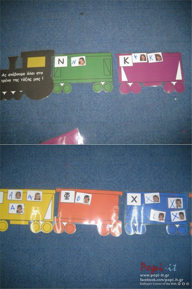 Το τρένο των ονομάτων μας
