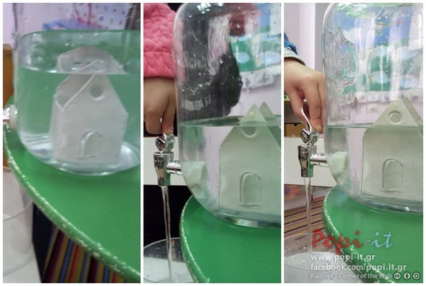 Γεμάτο ή άδειο φράγμα; Η στάθμη του νερού (πείραμα)