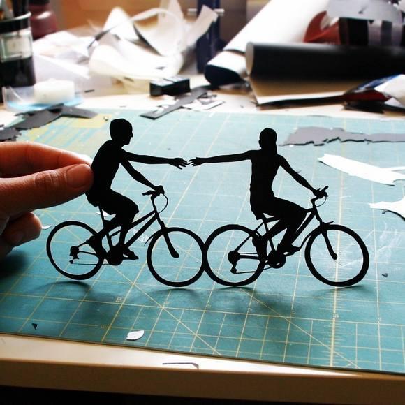 Χάρτινες Σιλουέτες - Τέχνη με χαρτί (23)