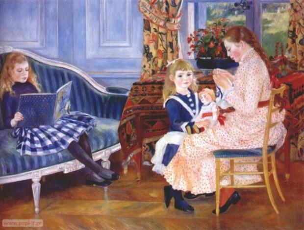 Children's Afternoon At Wargemont, by Pierre Auguste Renoir. 1884