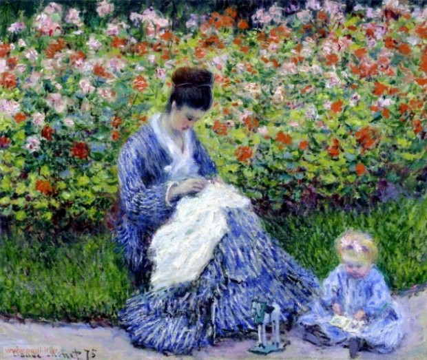 Camille Monet and Child, by Claude Monet. 1875