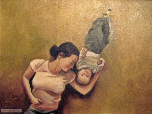 Łukasz Ciaciuch, paintings - Mother with child