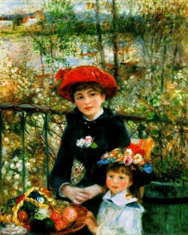 On the Terrace, by Pierre Auguste Renoir. 1881