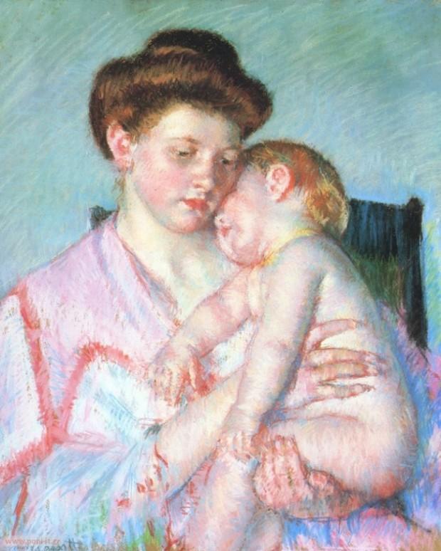Sleeping Baby, by Mary Cassatt. 1910
