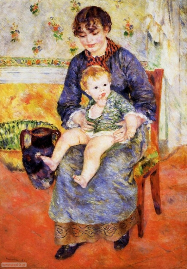 Mother and Child, by Pierre Auguste Renoir. 1881