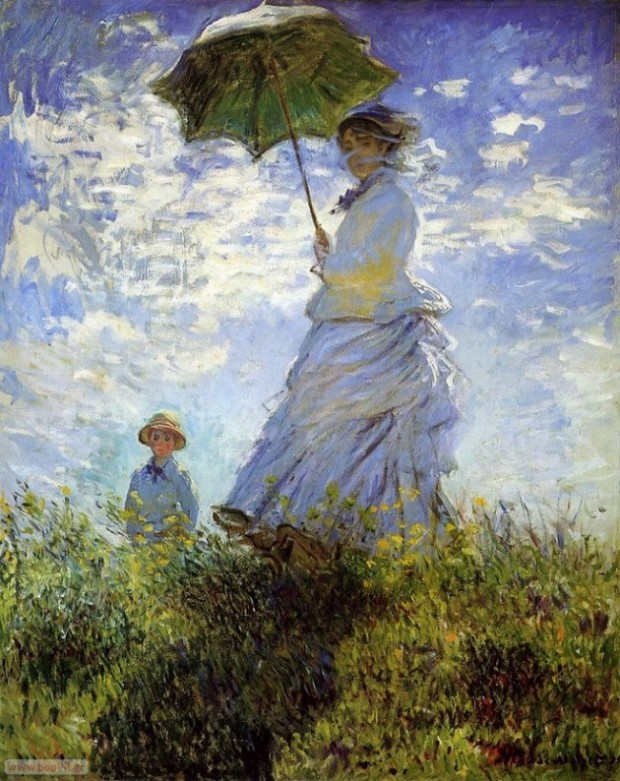 Madame Monet and Her Son, by Claude Monet. 1875