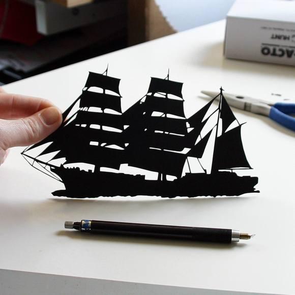 Χάρτινες Σιλουέτες - Τέχνη με χαρτί (9)