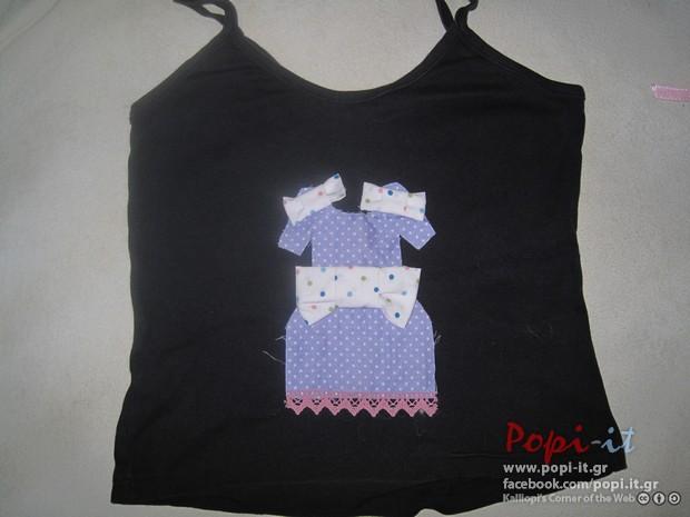 Πάτσγουορκ (patchwork)  σε μπλουζάκια - Μπλουζάκι φόρεμα