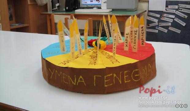 Τούρτα γενεθλίων 3D στην τάξη