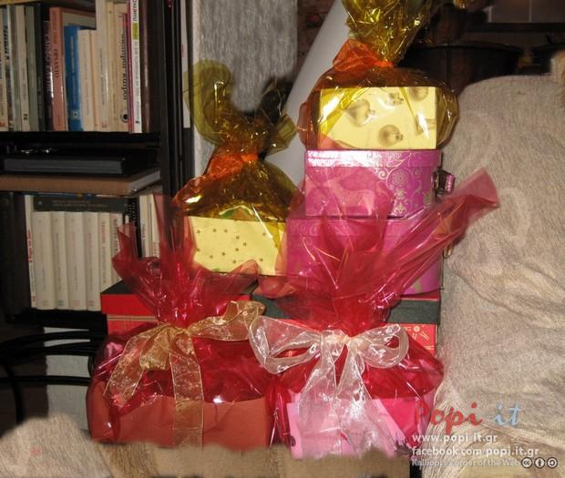 Μπισκότα βουτύρου σε κουτιά με ζελατίνες