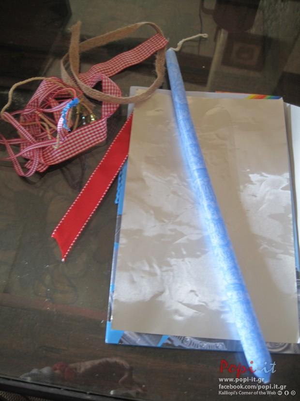 Λαμπάδες για το Πάσχα DIY σε τόνους γαλάζιο και κόκκινο
