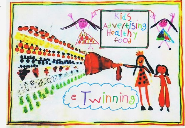 Kids advertising healty food / eTwining program