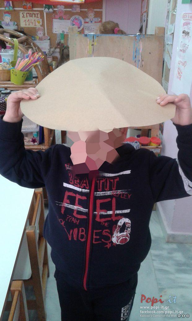 Scarecrow hat DIY/ Καπέλο σκιάχτρου για τις απόκριες