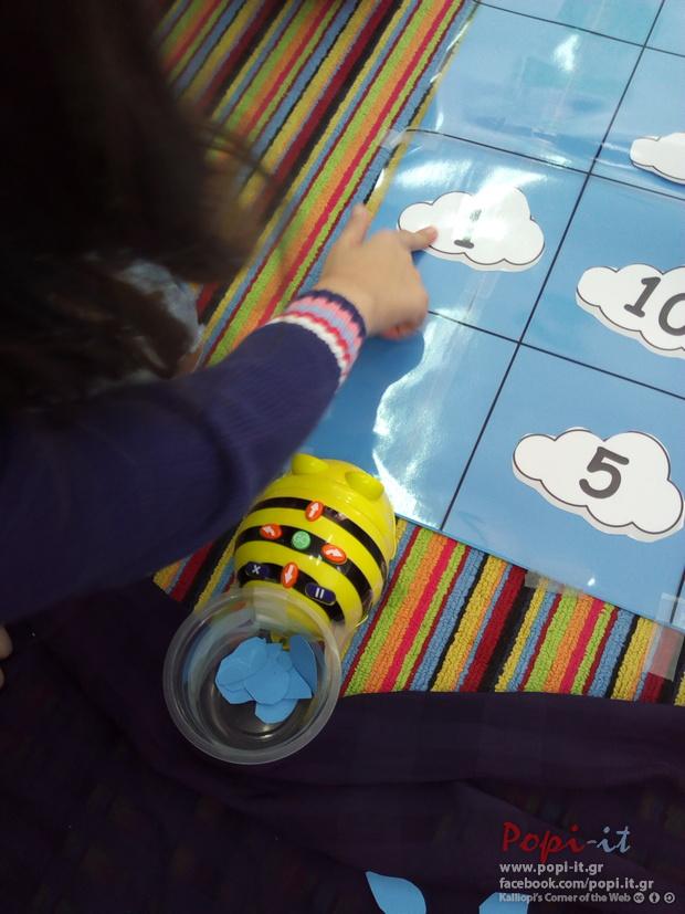 Μαθηματικά με το beebot : Σύννεφα και σταγόνες
